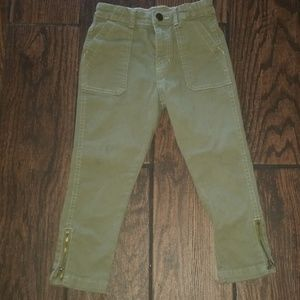 H&m cropped olive green Jean's for little girl